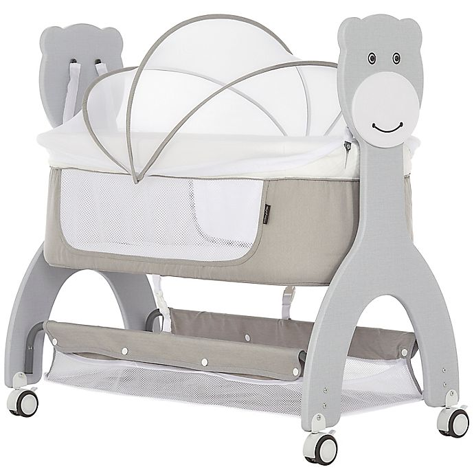 Alternate image 1 for Dream On Me Cub Portable Bassinet Rocking Cradle in Grey