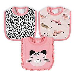 Gerber® 3-Pack Leopard Bibs in Pink