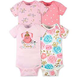 Gerber® Onesies® 4-Pack Princess Bodysuits in Pink