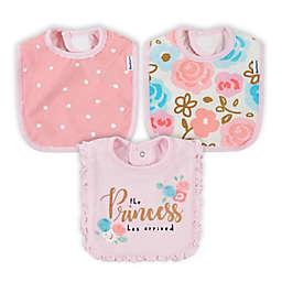 Gerber® 3-Pack Princess Bibs in Pink