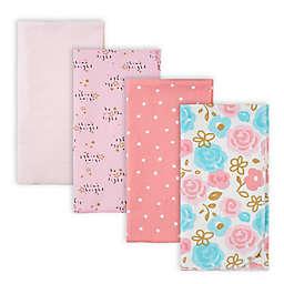 Gerber® 4-Pack Princess Flannel Receiving Blankets in Pink