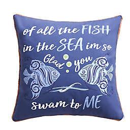 Levtex Home Laida Beach Fish, Sea, Me Throw Pillow in Navy