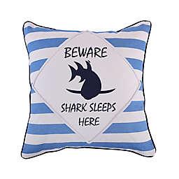 Levtex Home Torri Beware Square Throw Pillow in Blue/White