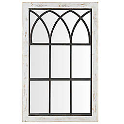 FirsTime & Co. 24-Inch x 37.5-Inch Vista Rectangular Arched Window Wall Mirror in White