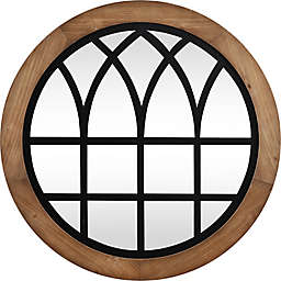 FirsTime & Co.® Covington 30-Inch Round Arch Mirror in Black