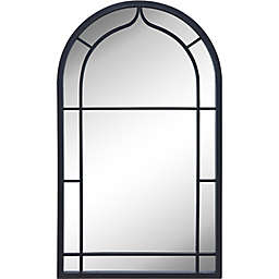 FirsTime & Co. 20-Inch x 33-Inch Ariana Farmhouse Arched Metal Wall Mirror in Dark Grey