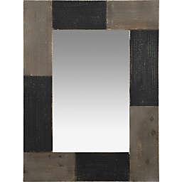 FirsTime & Co.® Mason Farmhouse Planks Wall Mirror in Black/Grey