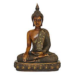 Ridge Road Decor Polystone Buddha Sculpture in Brown/Bronze