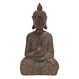 Ridge Road Décor Polystone Buddha Sculpture in Brown