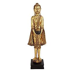 Ridge Road Décor Standing Buddha Statue in Gold