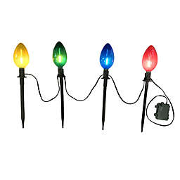 H for Happy™ 16-Inch Outdoor LED Bulb Pathway Markers (Set of 4)