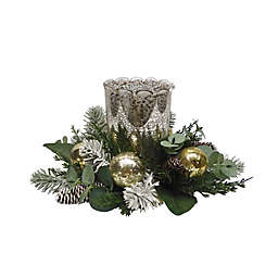 Bee & Willow™ Winter Floral Hurricane Ring Candle Holder