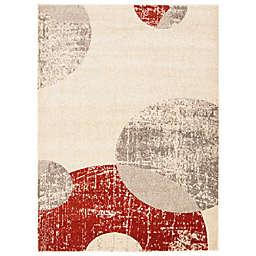 ECARPETGALLERY Bellagio 7'10 x 10'2 Area Rug in Ivory/Red