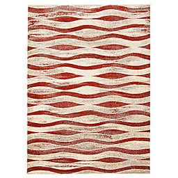 ECARPETGALLERY Neela 6'7 x 9'6 Area Rug in Ivory/Red