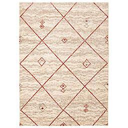 ECARPETGALLERY Devos 7'10 x 10'2 Area Rug in Ivory/Red