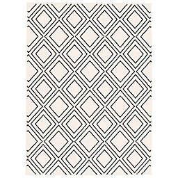 ECARPETGALLERY Macy Geod 7'10 x 10'2 Area Rug in White/Navy