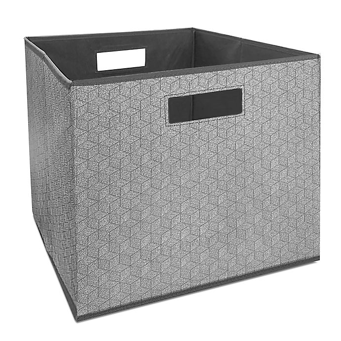 Alternate image 1 for Squared Away™ 13-Inch Collapsible Storage Bin in Charcoal Hex