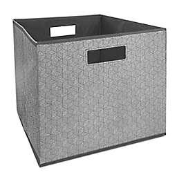 Squared Away™ 13-Inch Collapsible Storage Bin in Charcoal Hex