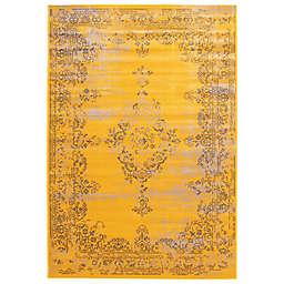 ECARPETGALLERY Dahlia  6'7 x 9'6 Area Rug in Yellow