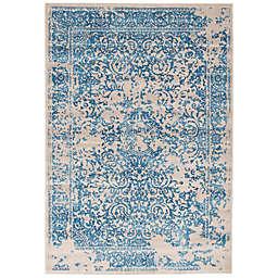 ECARPETGALLERY Dawson 3'11 x 5'7 Area Rug in Blue