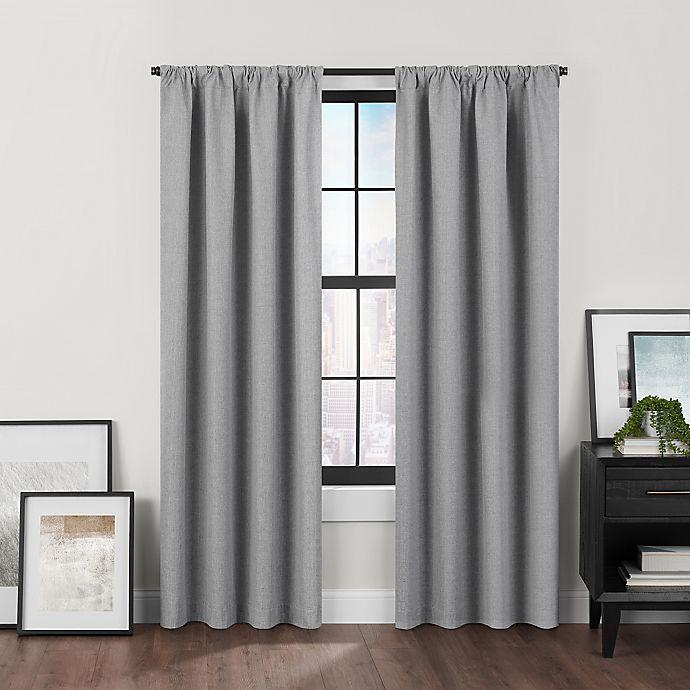 Alternate image 1 for Brookstone™ Birch Slidewell 100% Blackout & Draft Blocker Window Curtain Panel (Single)