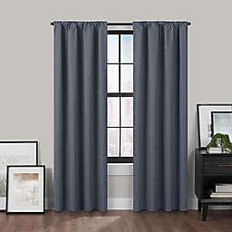 Brookstone™ Birch Slidewell 108-inch 100% Blackout & Draft Blocker Curtain Panel in Indigo