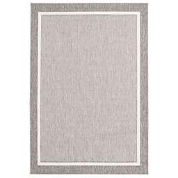 ECARPETGALLERY Platinum 3'11 x 5'7 Indoor/Outdoor Area Rug in Grey