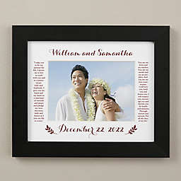 Wedding Vows 8-Inch x 10-Inch Horizontal Matted Frame in Black