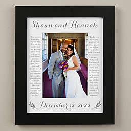 Wedding Vows 8-Inch x 10-Inch Vertical Matted Frame in Black