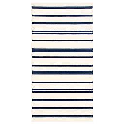 ECARPETGALLERY Arthur 2'8 x 4'11 Indoor/Outdoor Accent Rug in Blue/Ivory