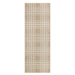 Bee & Willow™ Plaid 1'8 x 4'6 Accent Rug in White Smoke/Vaporous Grey