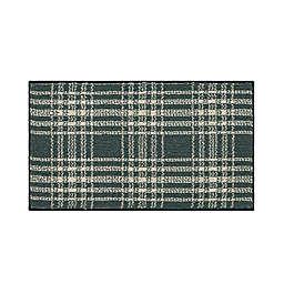 Bee & Willow™ Plaid 1'8 x 2'10 Accent Rug in Denim/Cream