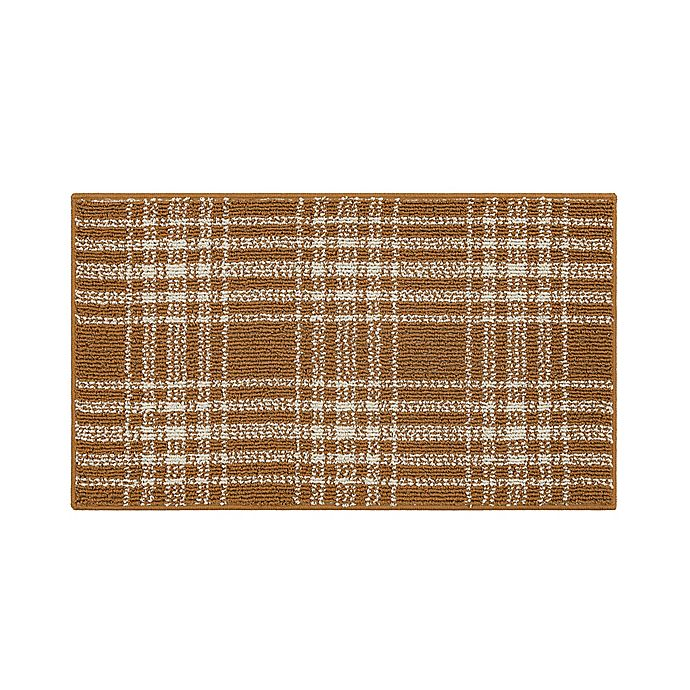 Alternate image 1 for Bee & Willow™ Plaid 1'8 x 2'10 Accent Rug in Tobacco Brown/Cream