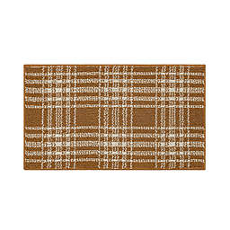 Bee & Willow™ Plaid 1'8 x 2'10 Accent Rug in Tobacco Brown/Cream