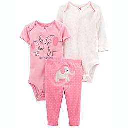 carter's® Size 6M 3-Piece Elephant Little Character Set in Pink