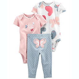 carter's® Size 6-9M 3-Piece Butterfly Little Character Set in Pink