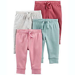 carter's® Size 12M 4-Pack Pull-On Pants in Pink/Teal