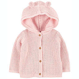 carter's® Hooded Cardigan in Pink