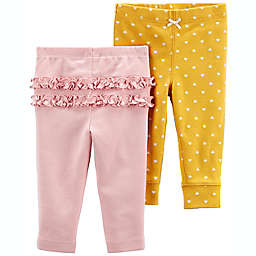 carter's® 2-Pack Cotton Pants in Pink/Multi