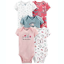 carter's® Preemie 5-Pack Floral Bodysuits