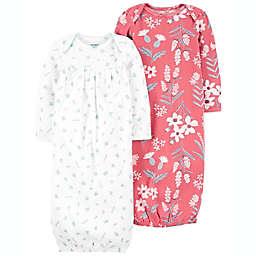 carter's® Preemie 2-Pack Raisen Sleeper Gowns in Cream