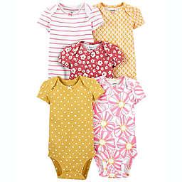 carter's® 5-Pack Floral Short Sleeve Bodysuits