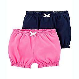 carter's® Size 18M 2-Pack Cotton Shorts in Navy/Pink