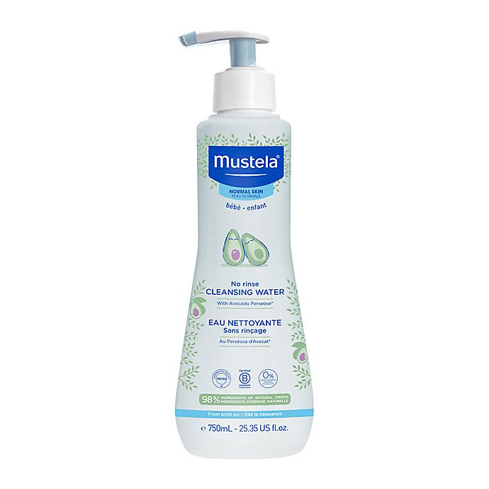 Alternate image 1 for Mustela® 25.35 oz. No-Rinse Cleansing Water for Face and Diaper Area