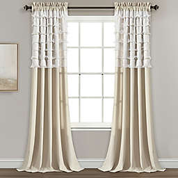 Lush Décor Avery 84-Inch Rod Pocket Window Curtain Panels in Neutral (Set of 2)
