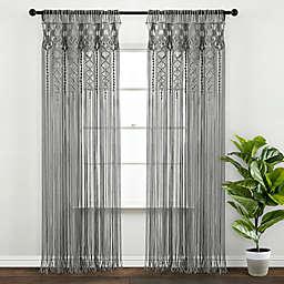 Lush Décor Boho Macramé Textured Cotton Window Treatment Collection