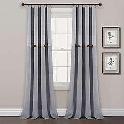 Lush Décor Farmhouse Stripe 95-Inch Rod Pocket Curtain Panels in Grey (Set of 2)