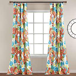 Lush Decor Layla Floral 95-Inch Rod Pocket Window Curtain Panels (Set of 2)