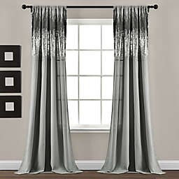 Lush Décor Shimmer Sequins 84-Inch Rod Pocket Curtain Panels in Dark Grey (Set of 2)