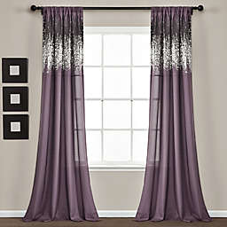 Lush Décor Shimmer Sequins 84-Inch Rod Pocket Curtain Panels in Purple (Set of 2)